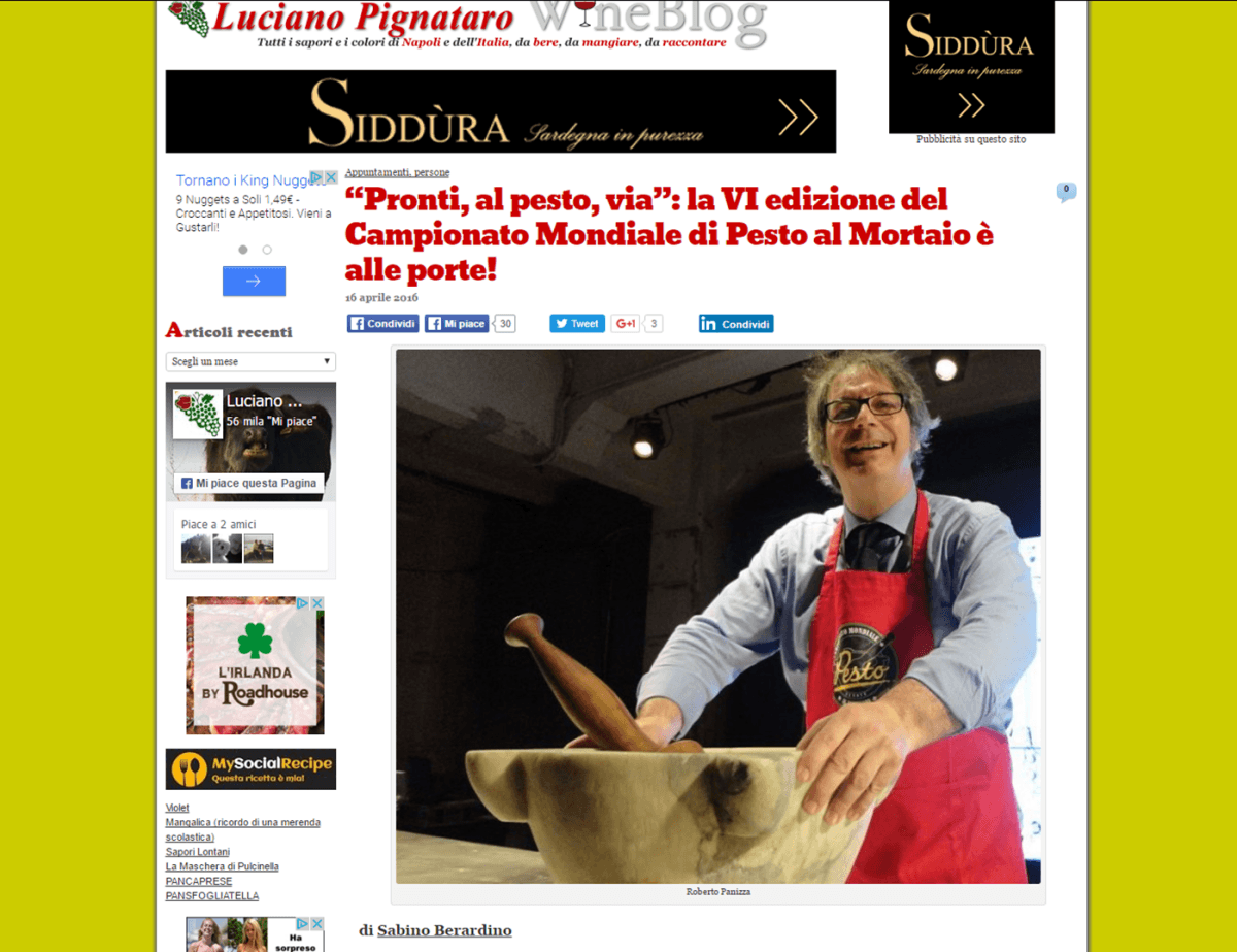 Il Blog di Luciano Pignataro - 16 Aprile 2016