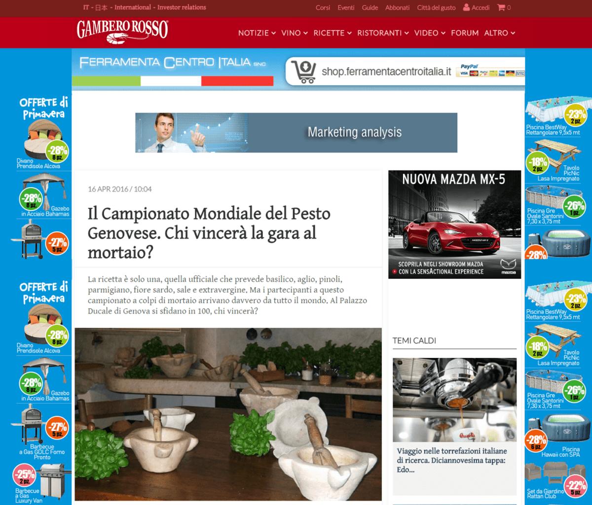 Gambero Rosso - 16 Aprile 2016