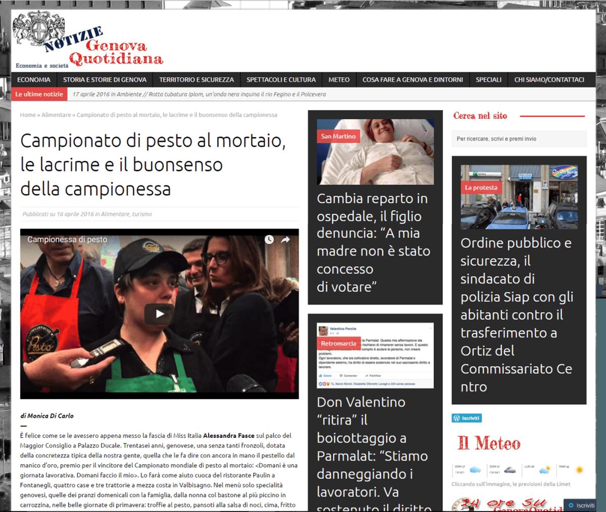 Genova Quotidiana - 16 Aprile 2016