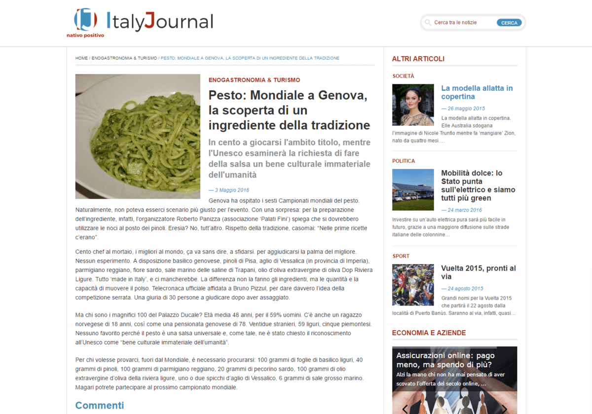 Italy Journal- 3 Maggio 2016