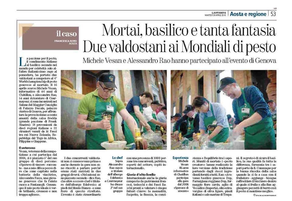 La Stampa Aosta- 26 Aprile 2016