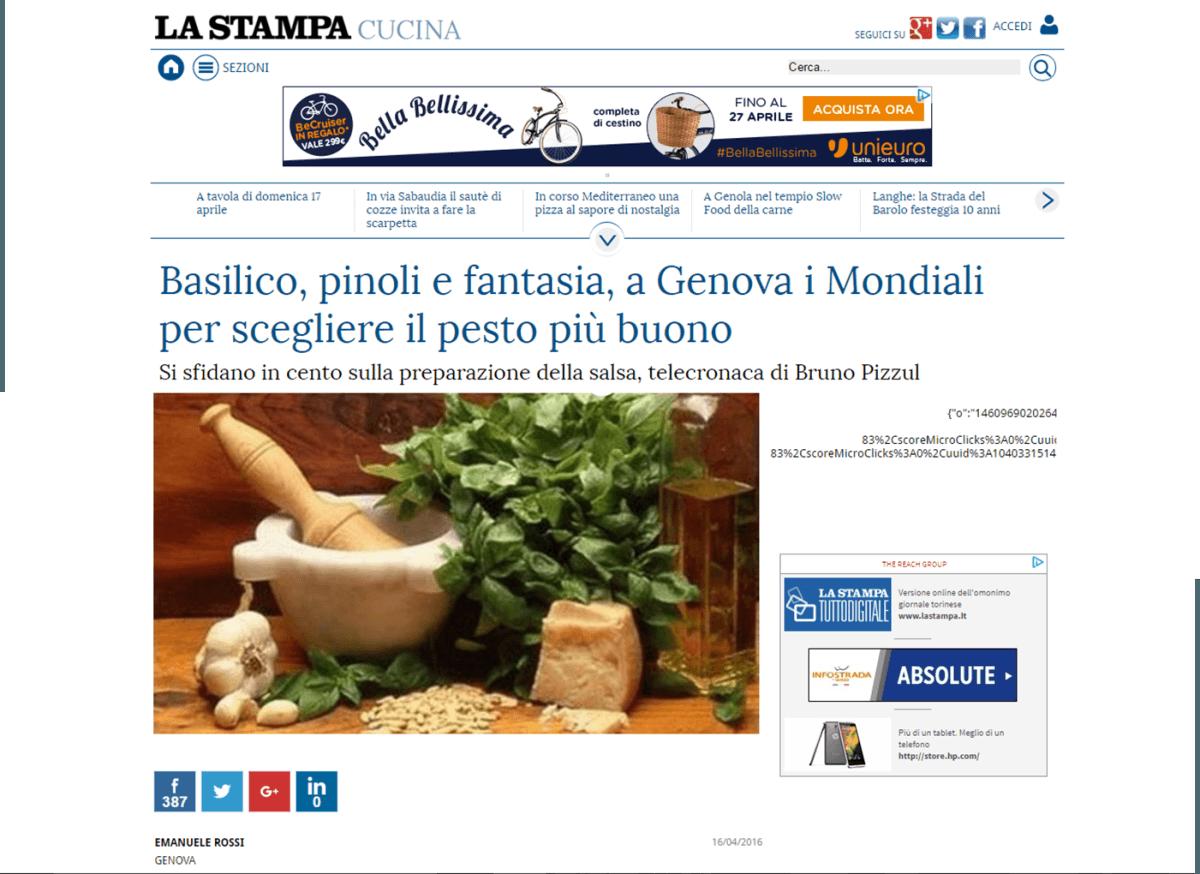 La Stampa - 16 Aprile 2016