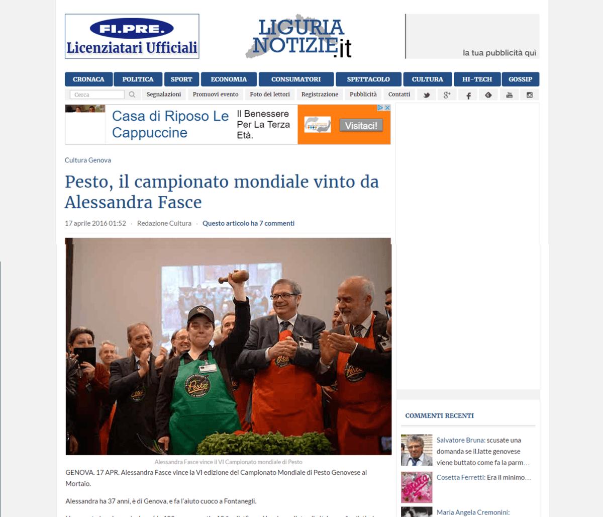 Liguria Notizie 17 Aprile16 Aprile 2016