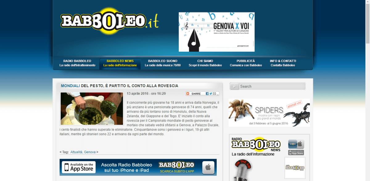 Radio Babboleo 13 Aprile 2016